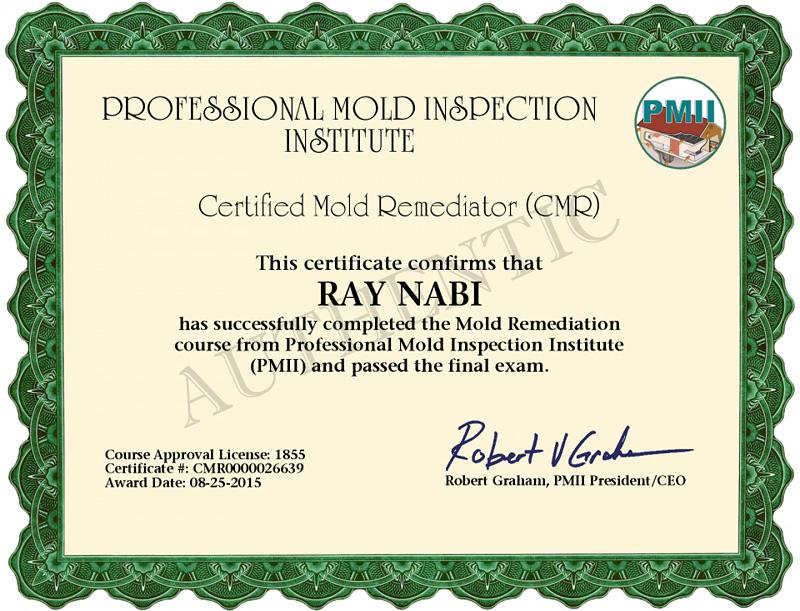 Aerotek Environmental Llc Mold Certifications Credentials