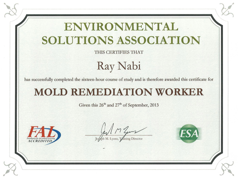 aerotek environmental, llc - mold certifications & credentials